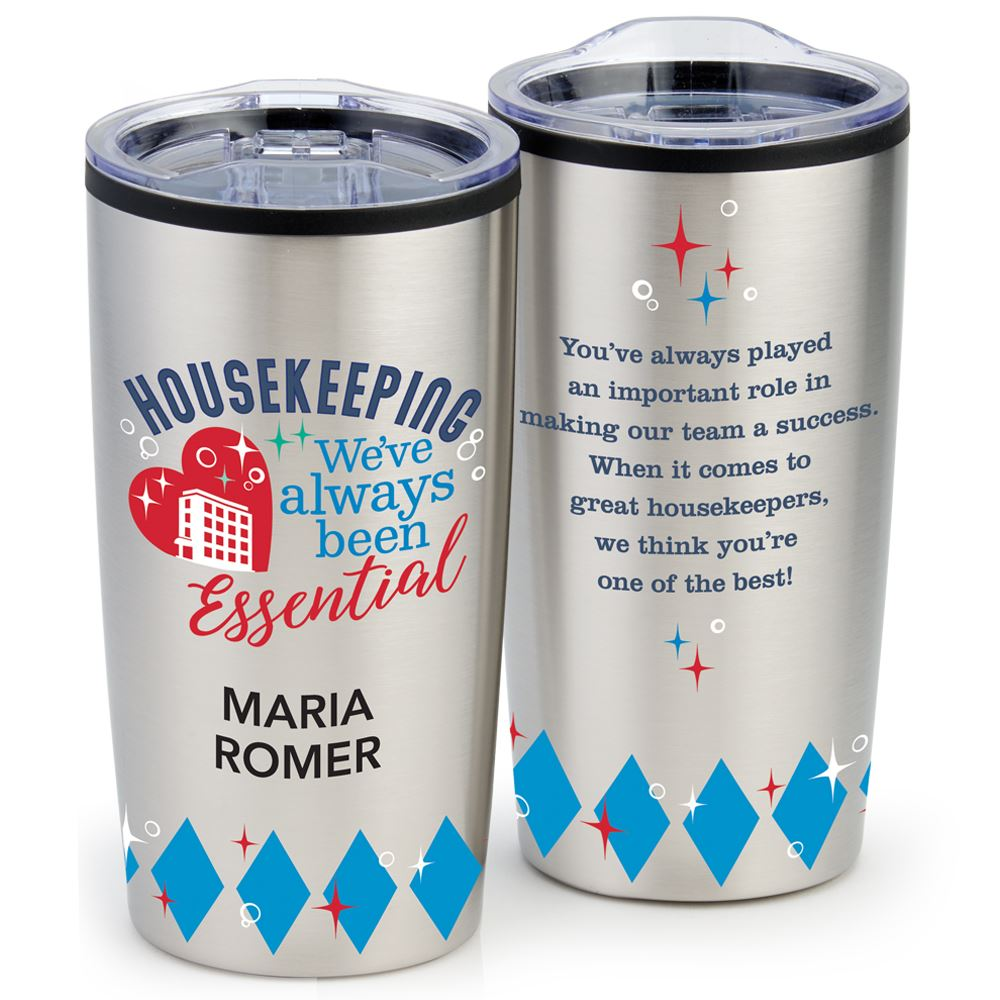 Housekeeping: We've Always Been Essential Teton Stainless Steel Tumbler 20-Oz. - Individual Personalization Available