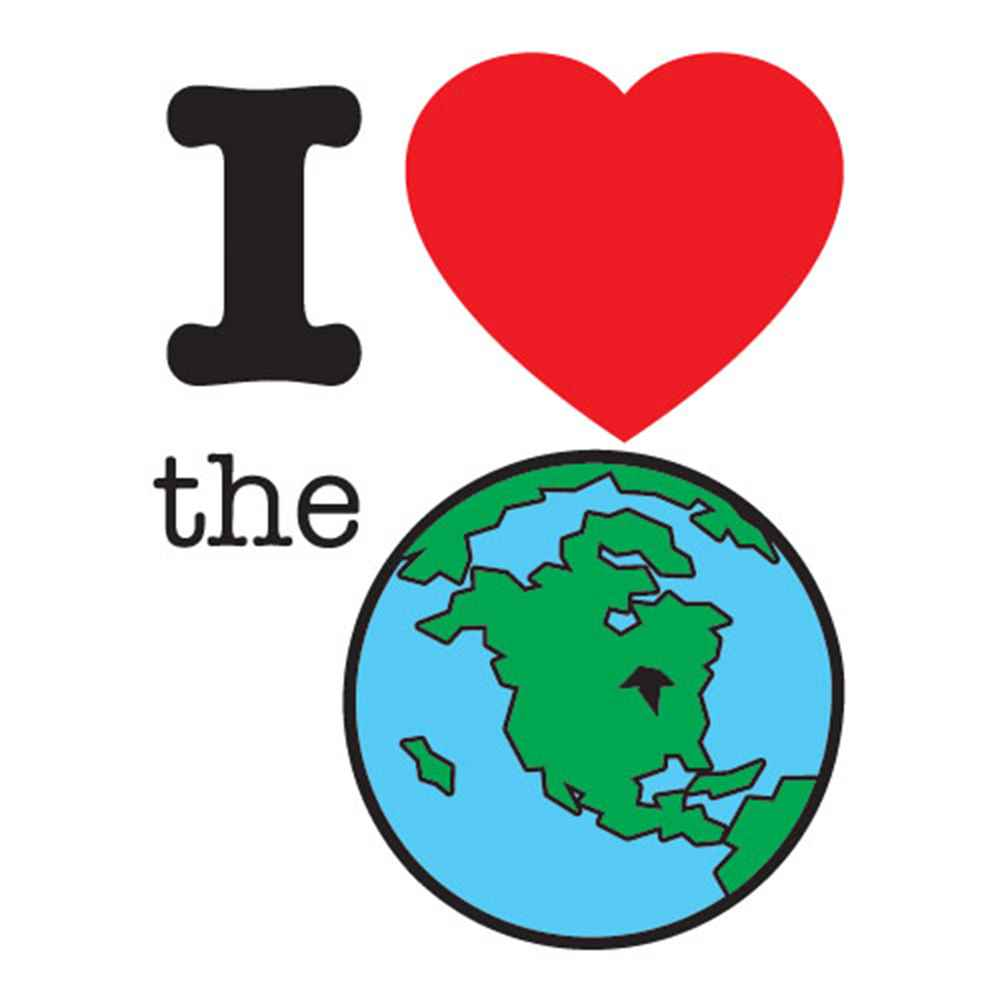 I (Heart) The Earth Temporary Tattoo - Pack of 100