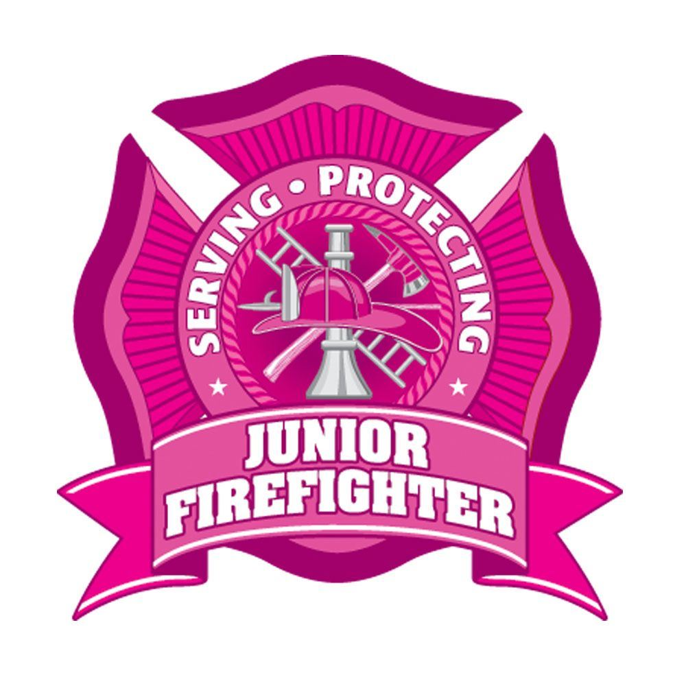 Serving, Protecting, Junior Firefighter Temporary Tattoo