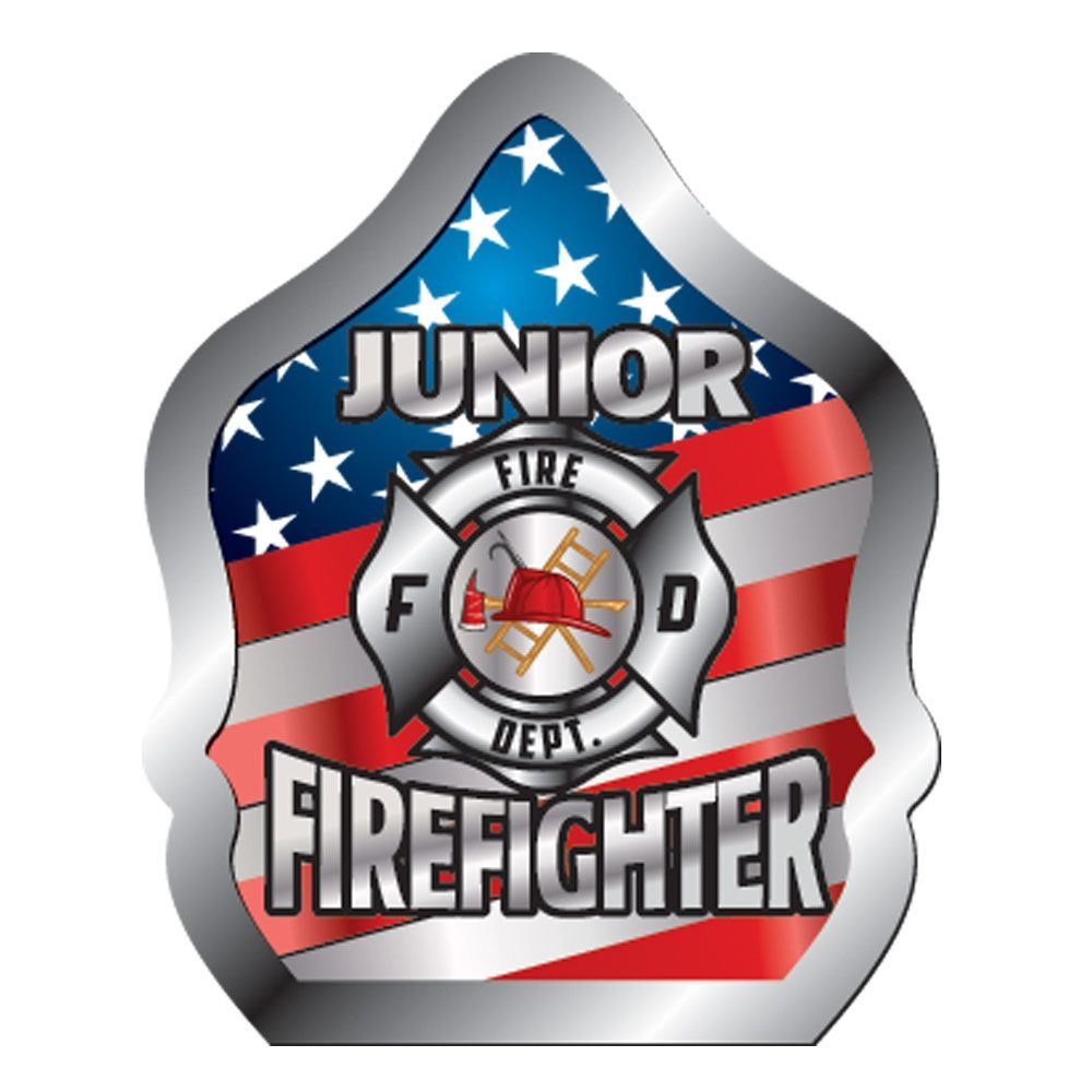 Patriotic Junior Firefighter Temporary Tattoo