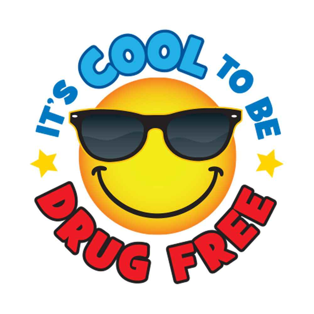 It's Cool To Be Drug Free Temporary Tattoos