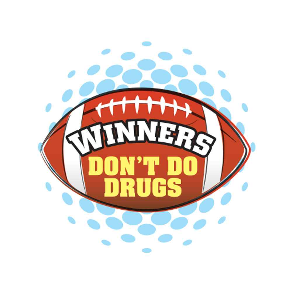 Winners Don't Do Drugs Temporary Tattoos - Pack of 100