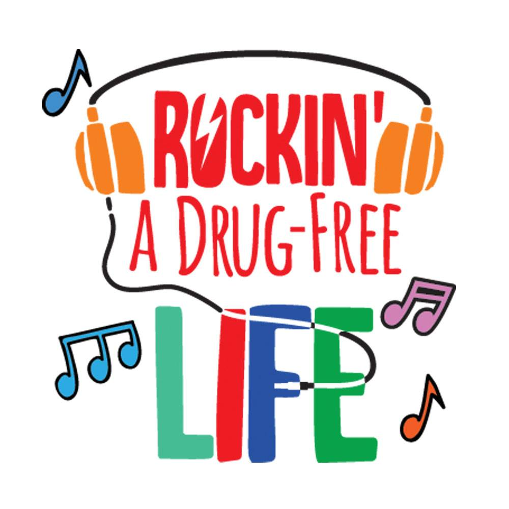 Rockin' A Drug-Free Life Temporary Tattoos - Pack of 100