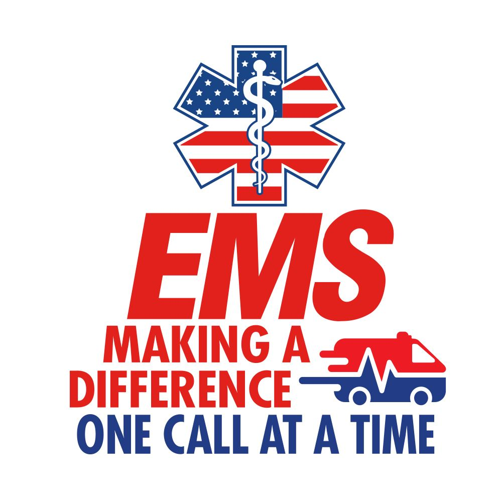 EMS Making A Difference One Call At A Time Temporary Tattoo - Pack of 100