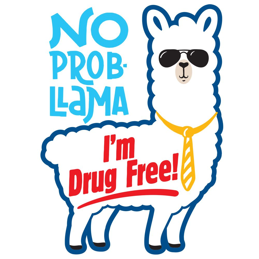 No Prob-llama I'm Drug Free Temporary Tattoos - Pack of 100