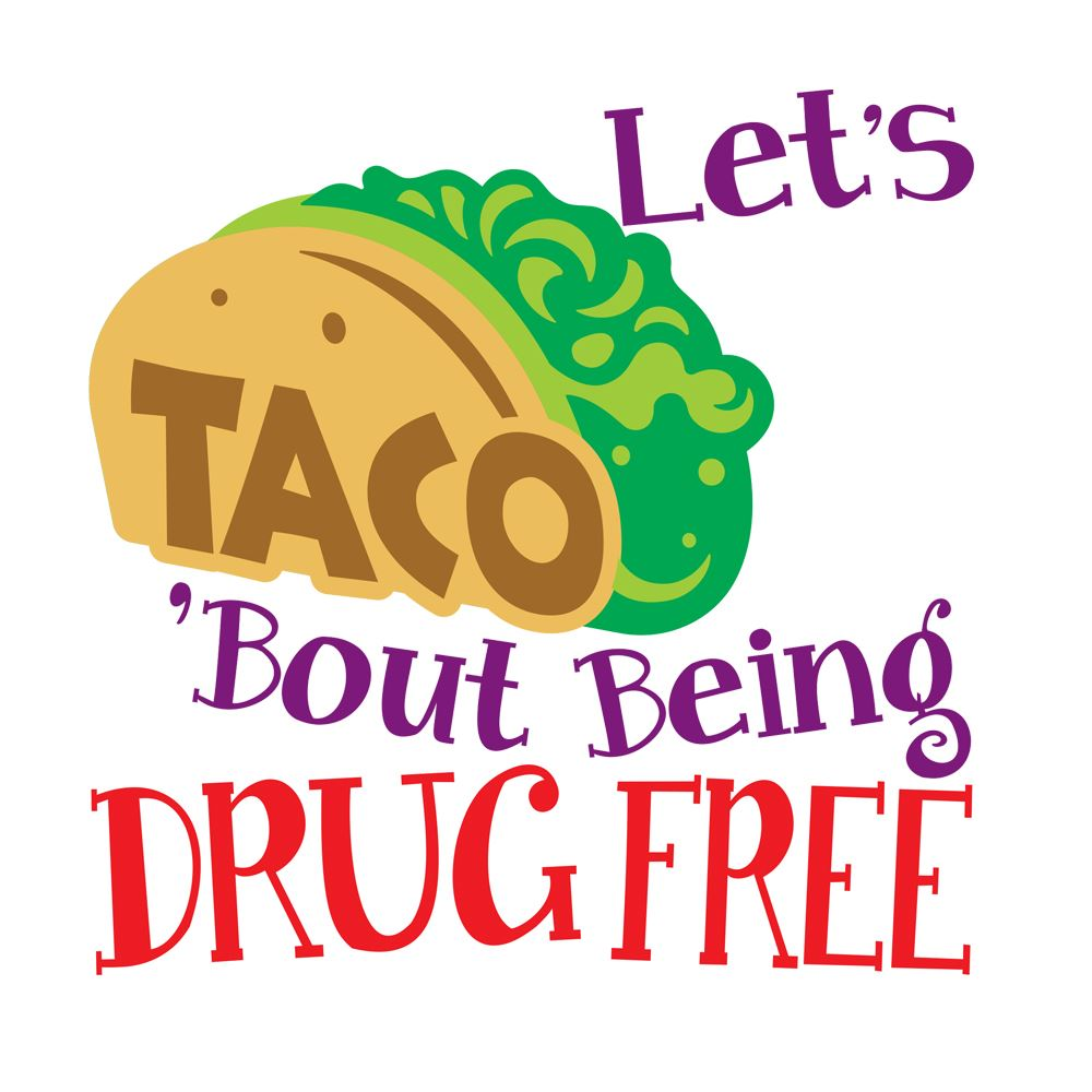 Let's Taco 'Bout Being Drug Free Temporary Tattoos - Pack of 100