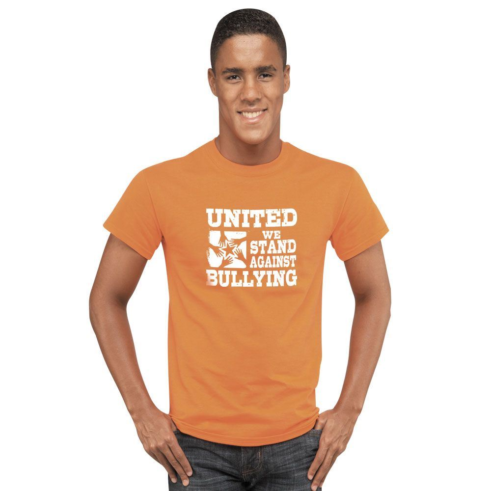 United We Stand Against Bullying Adult T-Shirt
