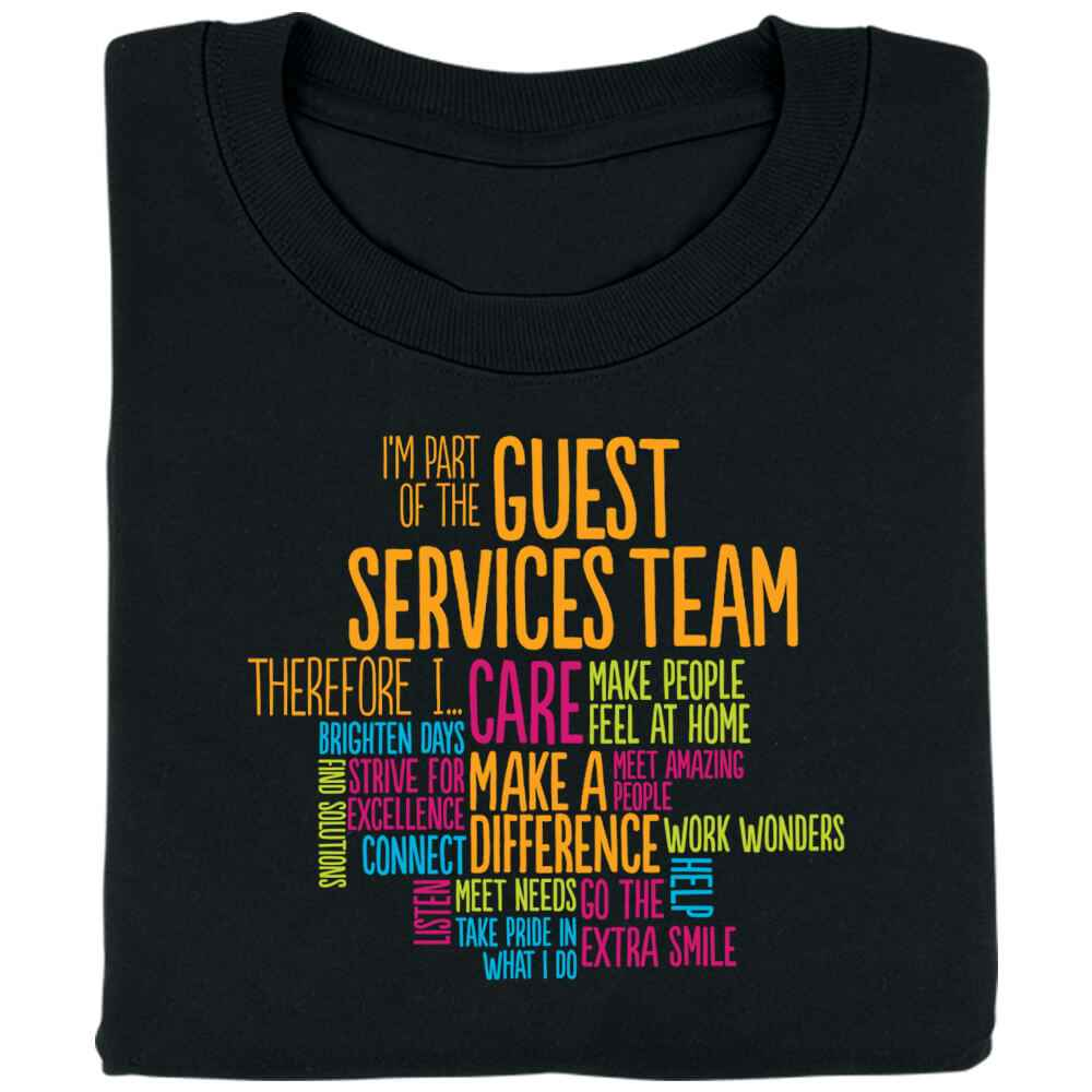 I'm Part of the Guest Services Team Word Cloud T-Shirt