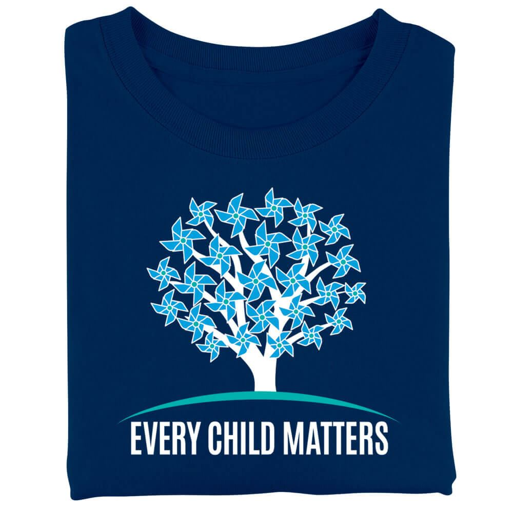 Every Child Matters/10 Reasons Navy Two Sided Short-Sleeve T-Shirt