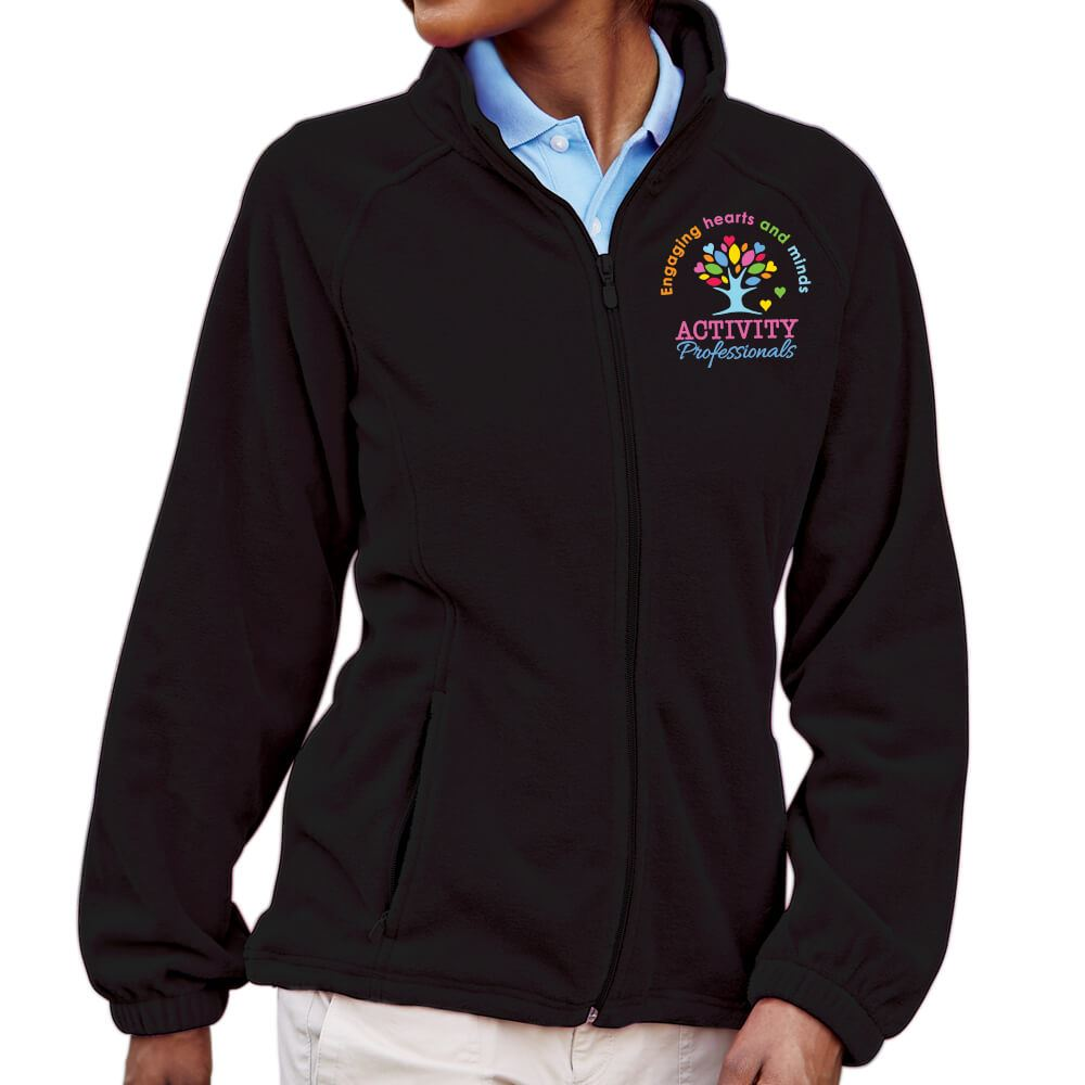 Activity Professionals: Engaging Hearts And Minds Embroidered Women's Cut  Full-Zip Fleece Jacket