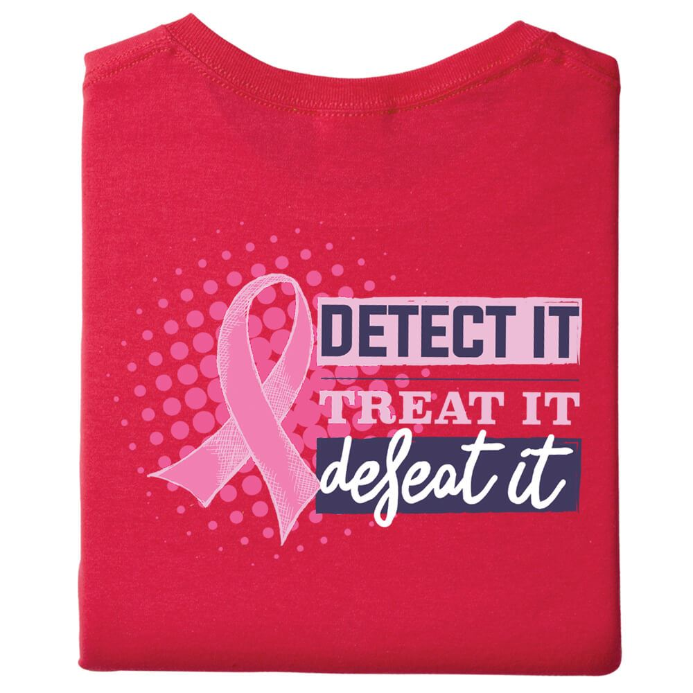 Detect It, Treat It, Defeat It Awareness 2-Sided T-Shirt