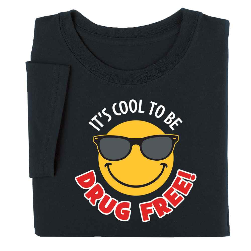 It's Cool To Be Drug Free! Adult T-Shirt