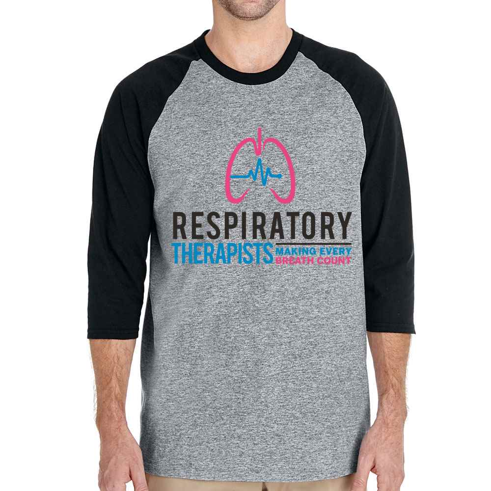 Respiratory Therapists: Making Every Breath Count Gildan® Heavy Cotton™ 3/4 Raglan Sleeve T-Shirt