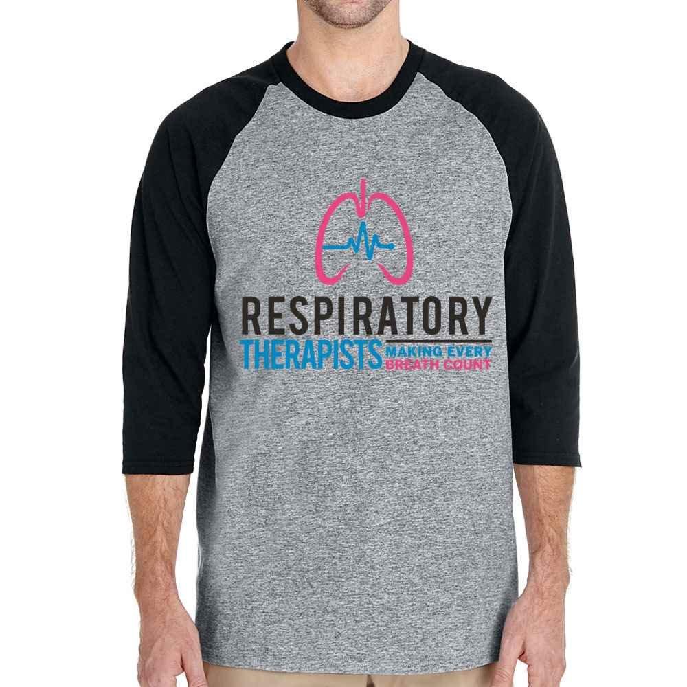 Respiratory Therapists: Making Every Breath Count Gildan® Heavy Cotton™ 3/4 Raglan Sleeve T-Shirt