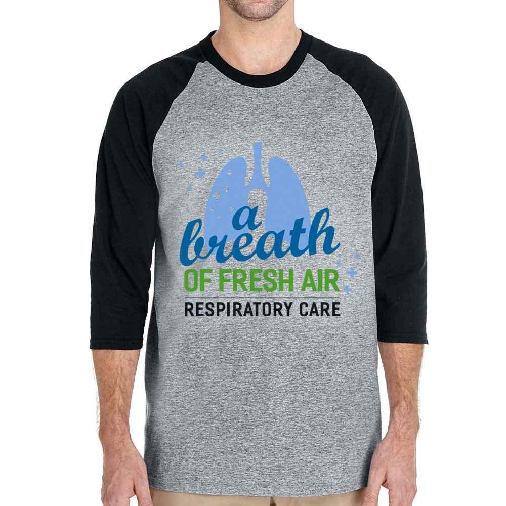 Respiratory Care: A Breath Of Fresh Air Gildan® Heavy Cotton™ 3/4 Raglan Sleeve T-Shirt