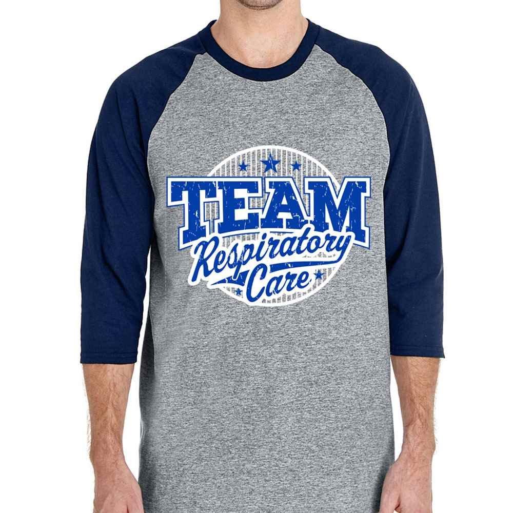 Team Respiratory Care Gildan® Heavy Cotton™ 3/4 Raglan Sleeve T-Shirt