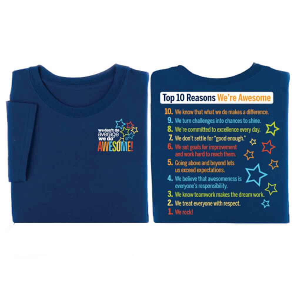 Top 10 Reasons We're Awesome 2-Sided T-Shirt