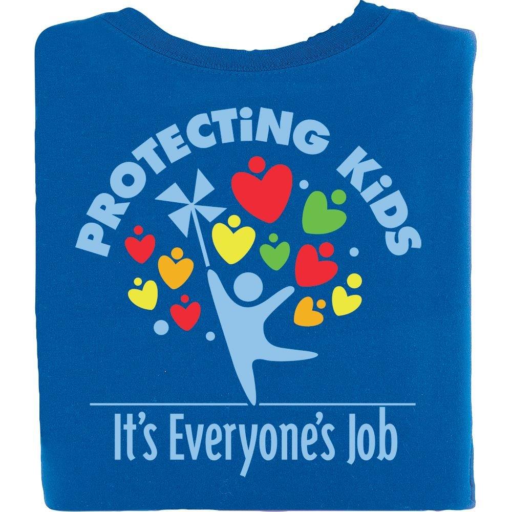 Protecting Kids: It's Everyone's Job Royal Blue Short-Sleeve T-Shirt