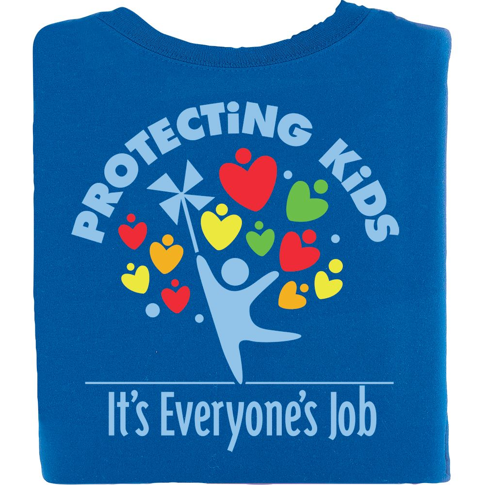 Protecting Kids: It's Everyone's Job Royal Blue Short-Sleeve T-Shirt