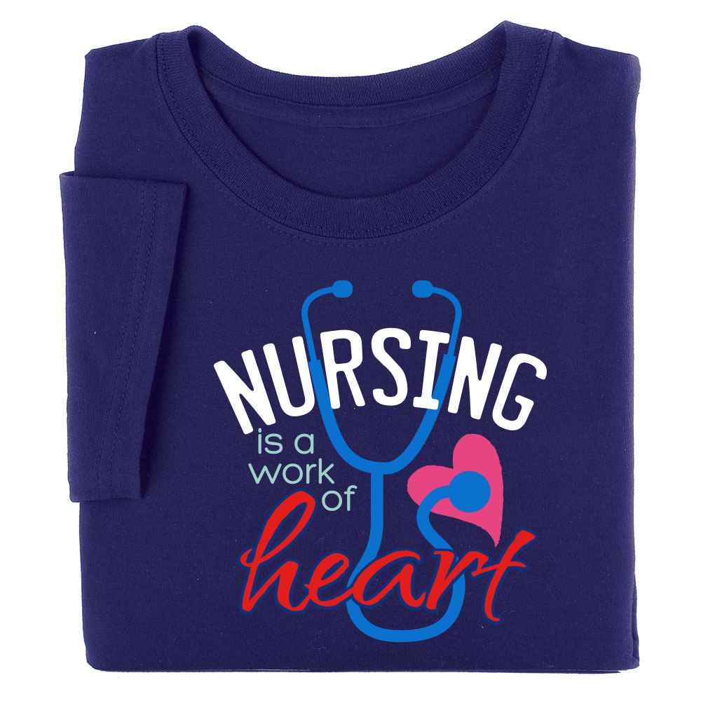 Nursing Is A Work Of Heart Short-Sleeved Recognition T-Shirt