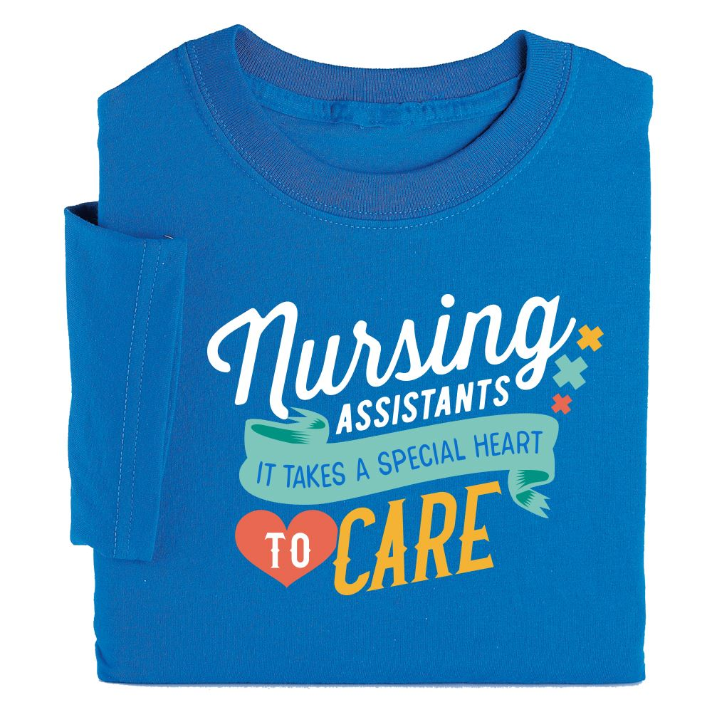 Nursing Assistants: It Takes A Special Heart To Care Recognition T-Shirt
