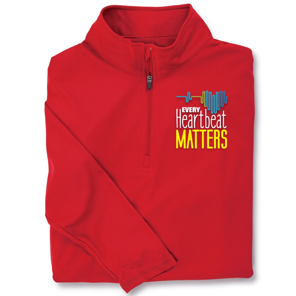 Every Heartbeat Matters Red Performance Quarter-Zip Pullover