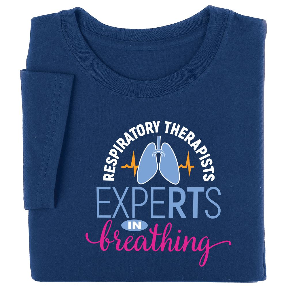 Respiratory Therapists: ExpeRTs In Breathing Short-Sleeved Recognition T-Shirt