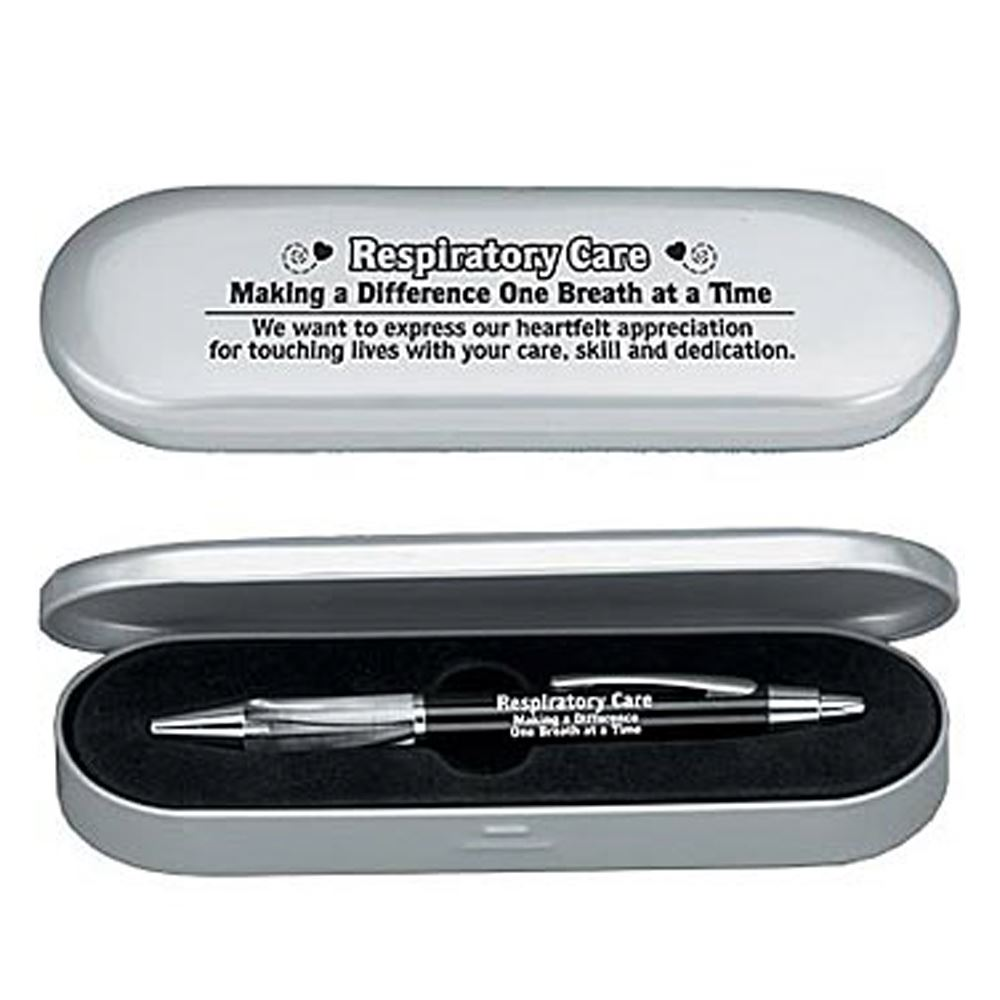 Respiratory Care Making A Difference One Breath At A Time Deluxe Laser-Engraved Pen With Case