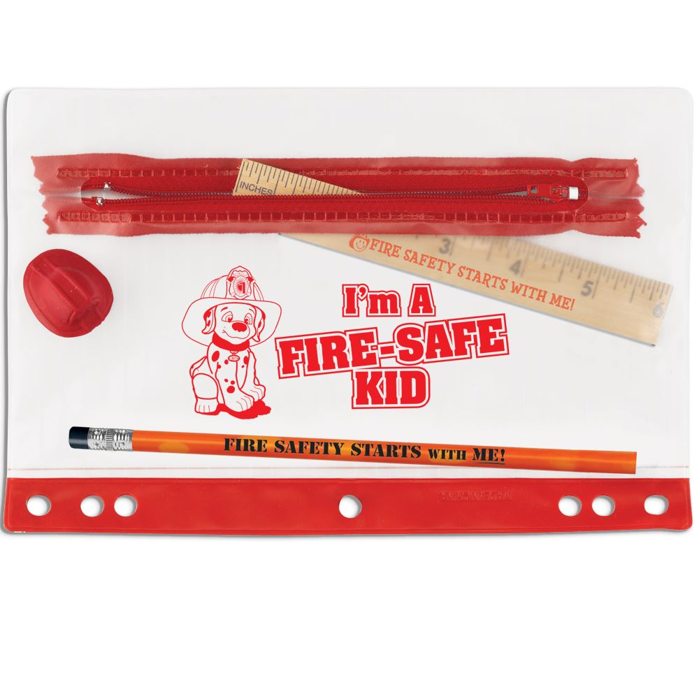 I'm A Fire-Safe Kid 4-Pc. Pencil Pouch Gift Set