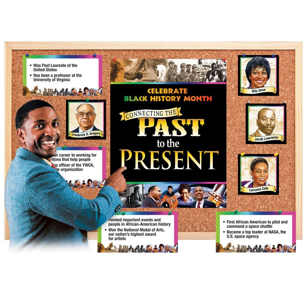 connecting the past to the present bulletin board set | positive