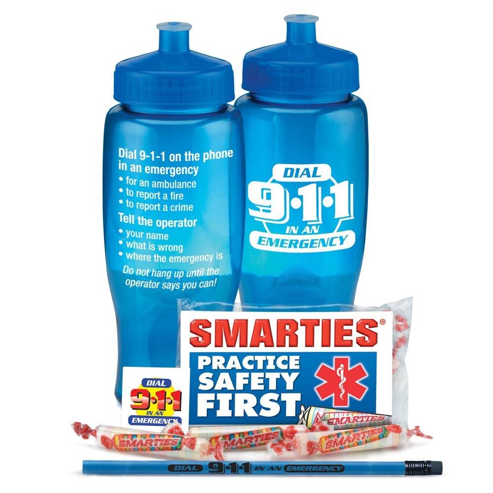 Dial 9-1-1 In An Emergency Water Bottle Kit