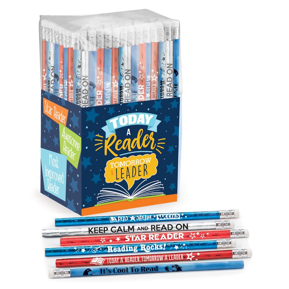 Today A Reader, Tomorrow A Leader 150-Piece Pencil Assortment Collection