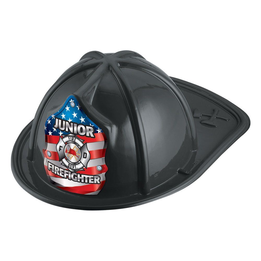 Patriotic Junior Firefighter Hat (Black)
