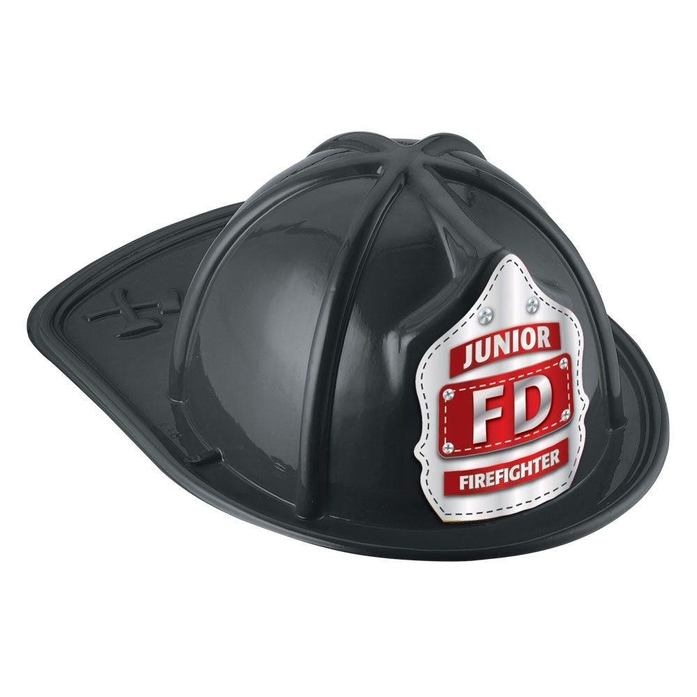 Junior FD Firefighter Hat (Black)