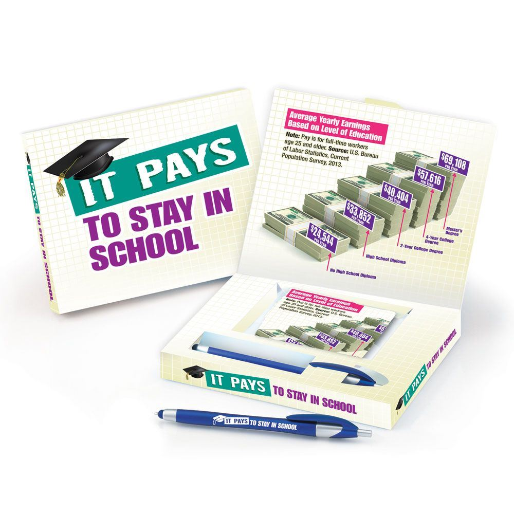 It Pays To Stay In School Microfiber Cloth & Stylus Pen Gift Set