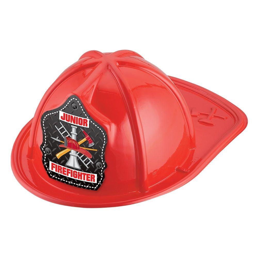 Metal Grate Junior Firefighter Hat (Red)