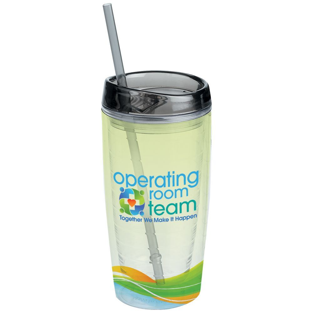 Operating Room Team: Together We Make It Happen Double Wall Acrylic Tumbler With Straw 16-oz.