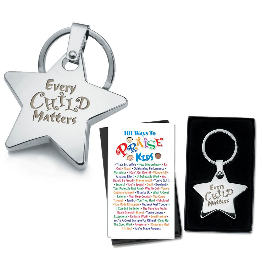 Every Child Matters Star Key Tag & Two-Sided Praise Card