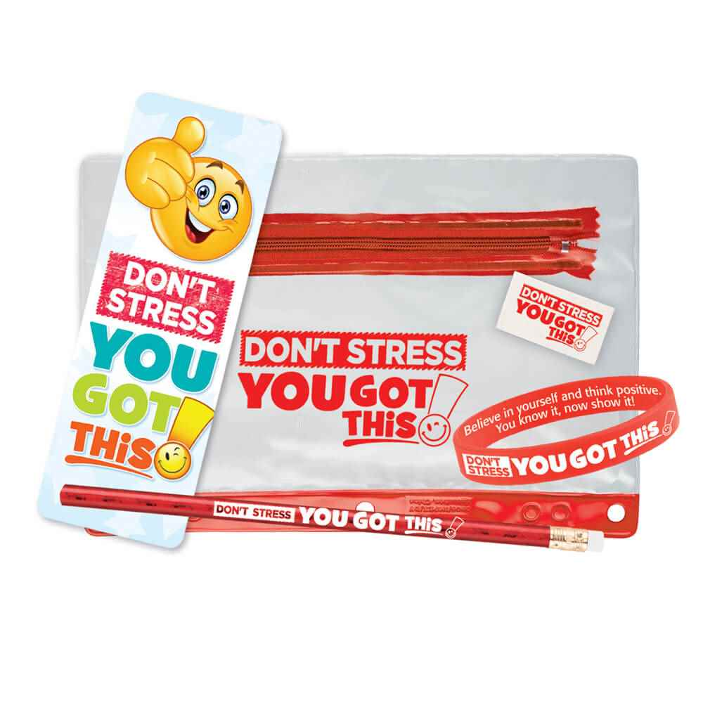 Don't Stress, You Got This! Test Prep Pouch