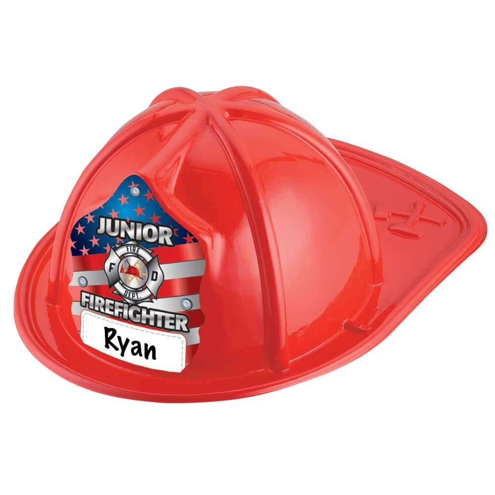 Write In Patriotic Red Junior Firefighter Hat