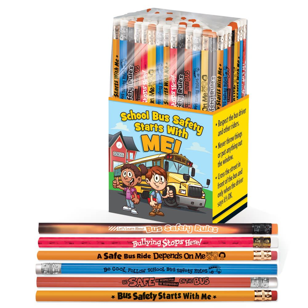 School Bus Safety Starts With Me! 150-Piece Pencil Collection