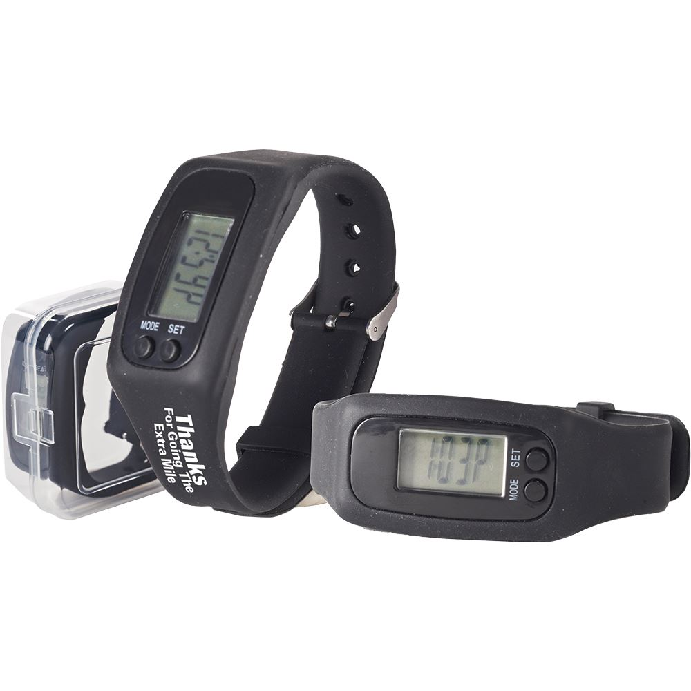Thanks For Going The Extra Mile Silicone Fitness Watch Pedometer