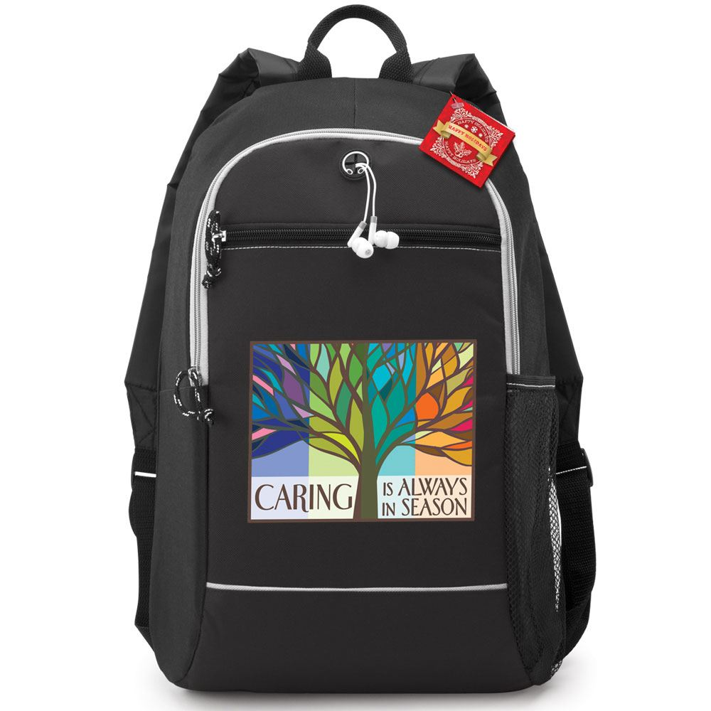 Caring Is Always In Season Bayside Backpack With Holiday Gift Card
