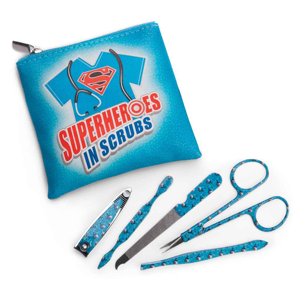 Superheroes In Scrubs Full-Color Manicure Kit