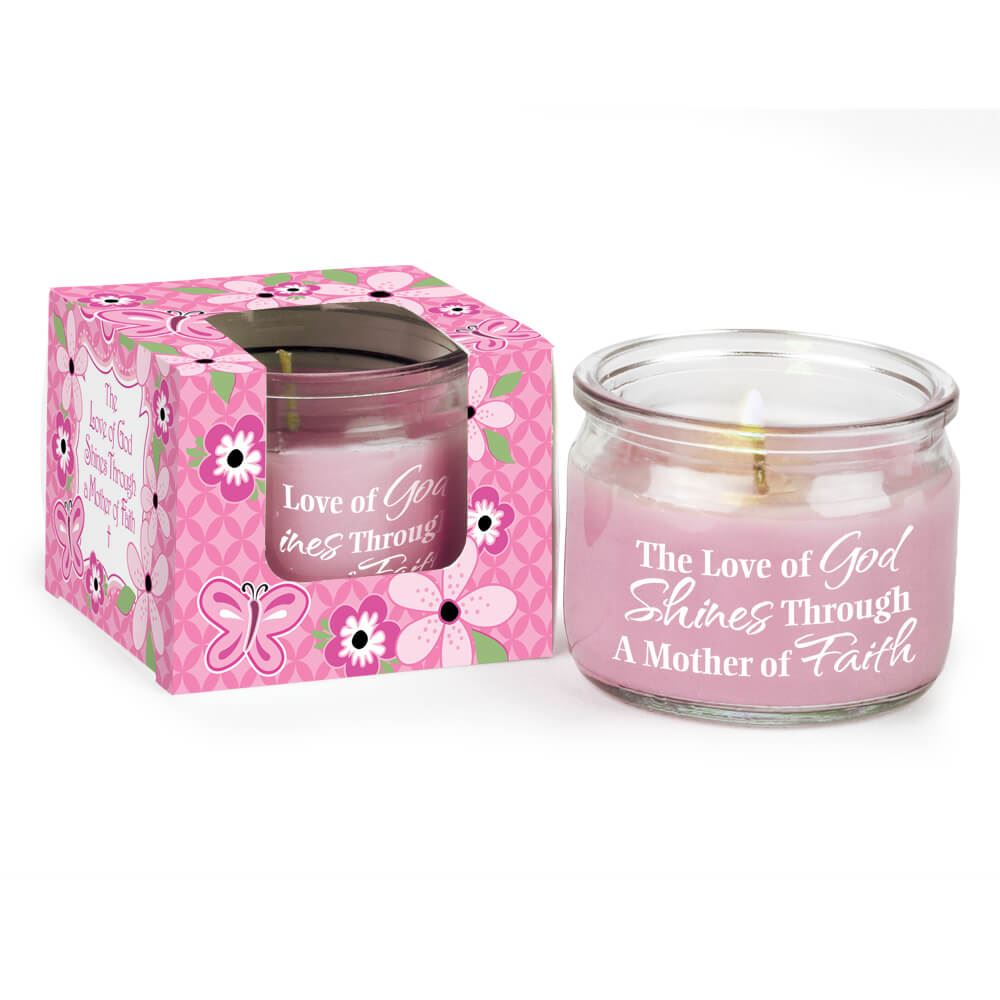 The Love Of God Shines Through A Mother Of Faith Gift-Boxed Candle