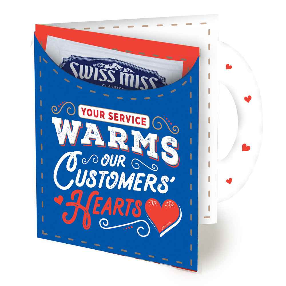 Your Service Warms Our Customer's Hearts Greeting Card With Hot Chocolate