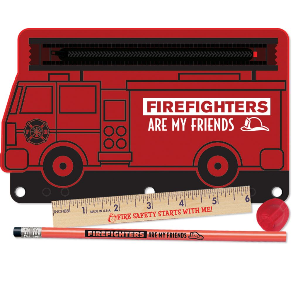 Firefighters Are My Friends 4-Pc. Pencil Pouch Gift Set