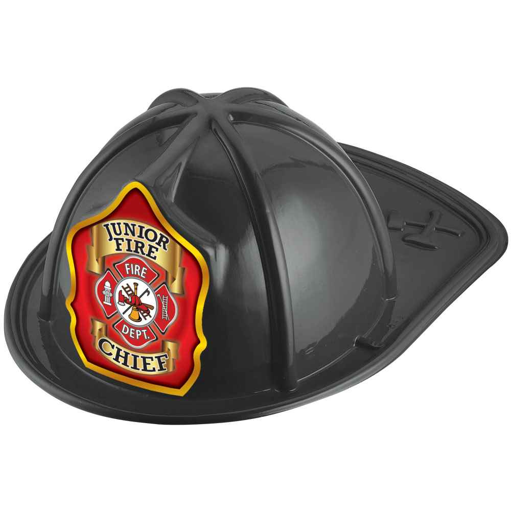 Junior Fire Chief Black Firefighter Hat