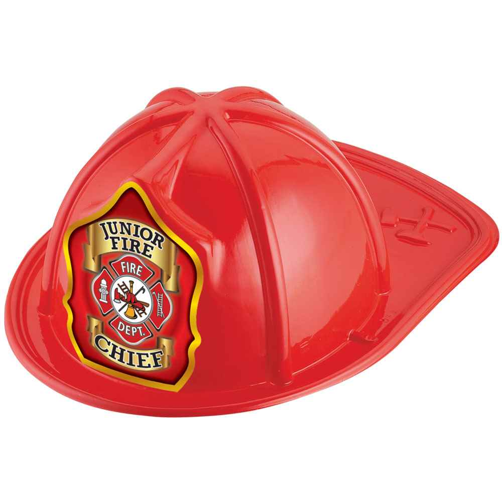 Junior Fire Chief Red Firefighter Hat