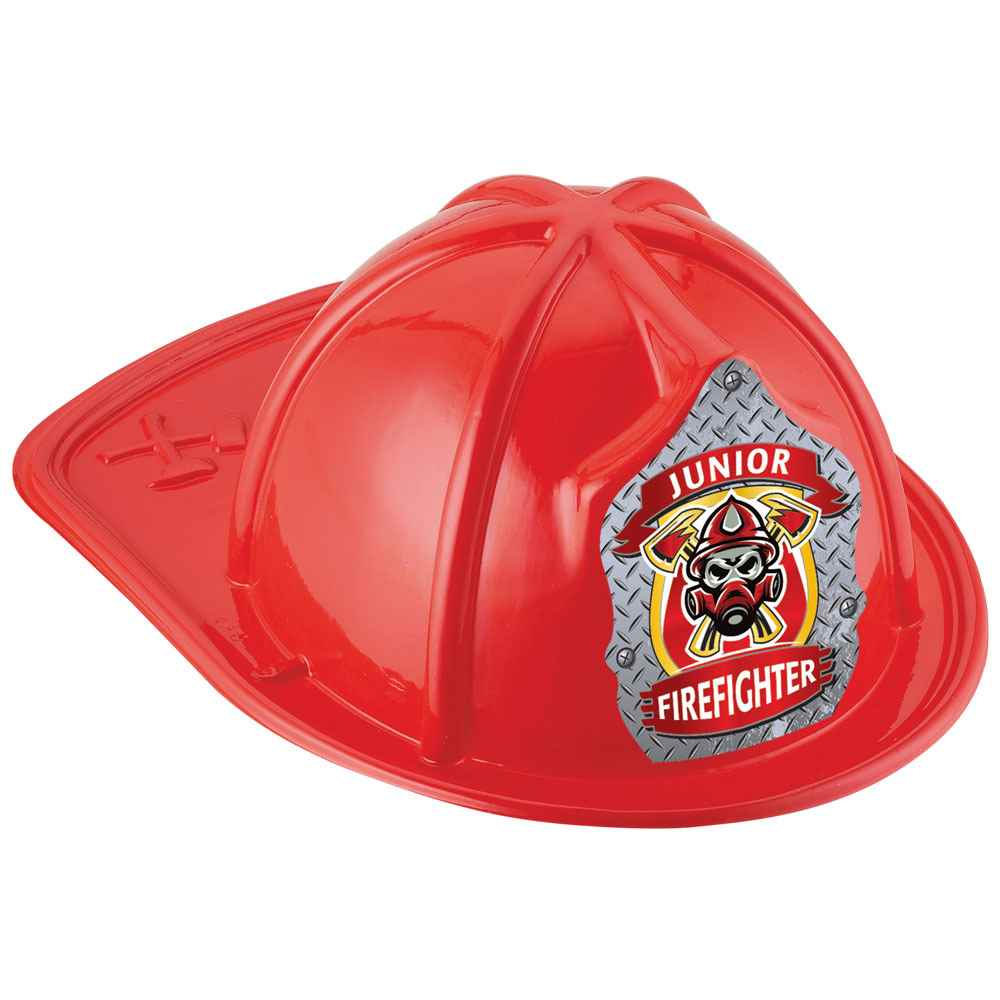Junior Firefighter Mask Design Red Hat